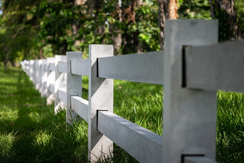 Horse fence lined entry