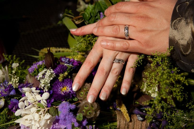 rings on bouquets