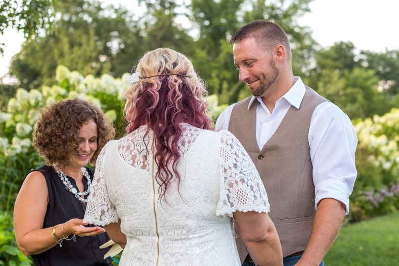 Wedding officiant heading the ceremony | Photo by Whitney Brewer Photography