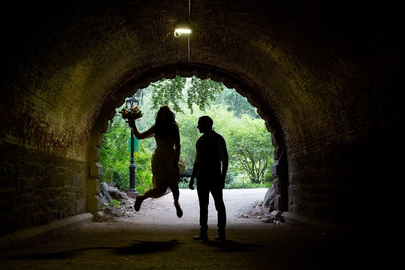 Central Park Tunnel Wedding