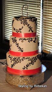 pink black wedding cake myrtle beach