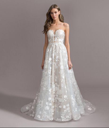 Unique floral gown
