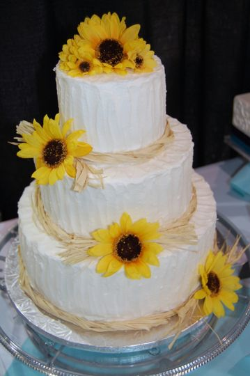 sunflower display cak