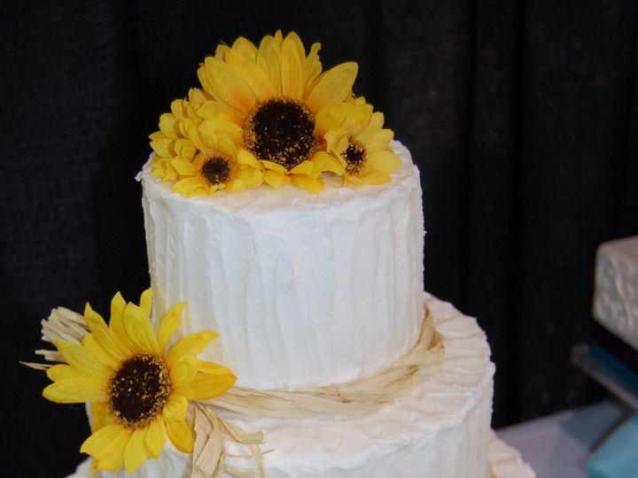 Tmx 1383754070910 Sunflower Display Cak Chester wedding cake
