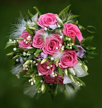 Tmx 1318536372812 Pinkroseswithtullebqt Oxford wedding florist