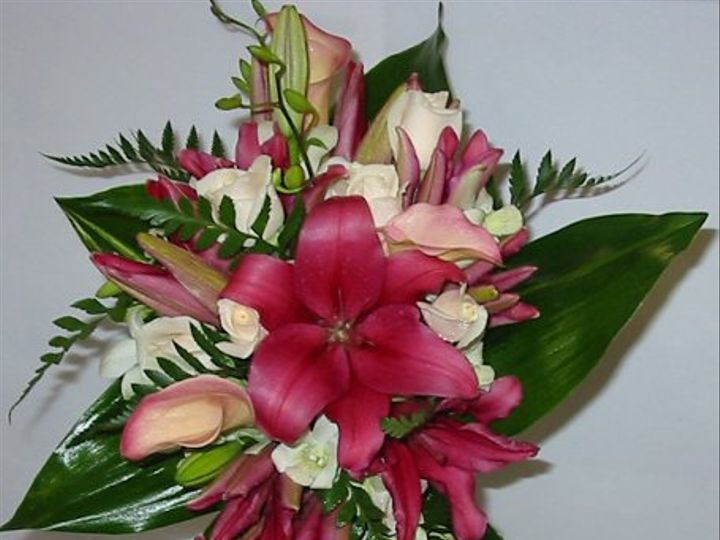 Tmx 1318536499406 Bridesbouquetburgundytropical Oxford wedding florist