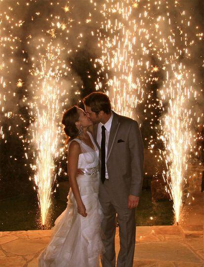 Wedding Pyro - Gerbs