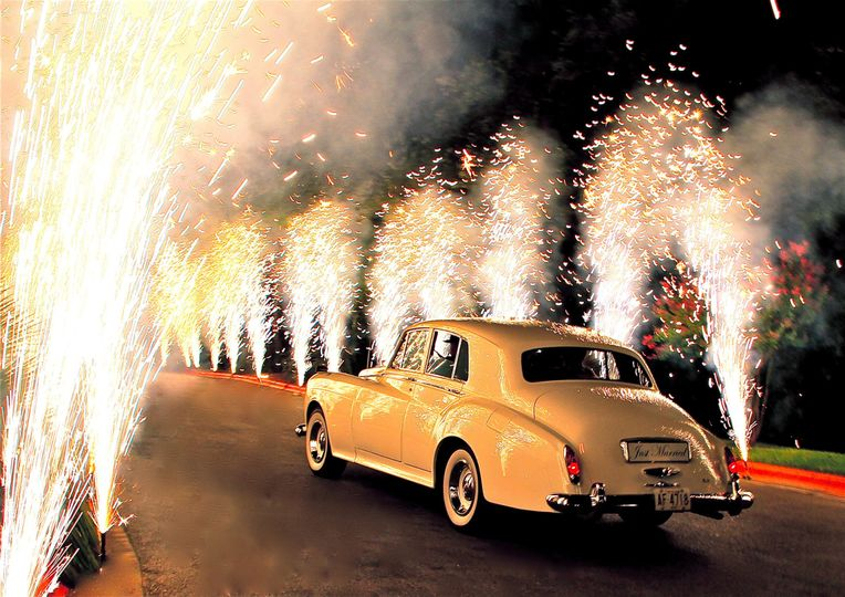 Making an unforgettable romantic exit, let us show you how with pyrotechnics for your wedding day.