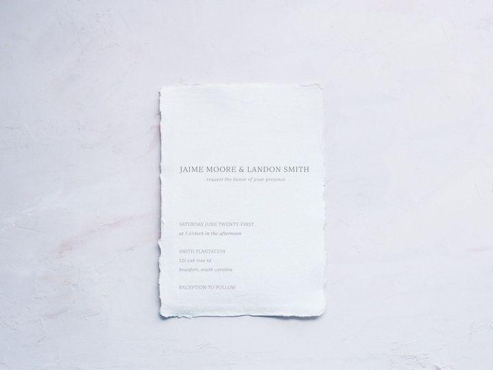 Semi-custom invitation