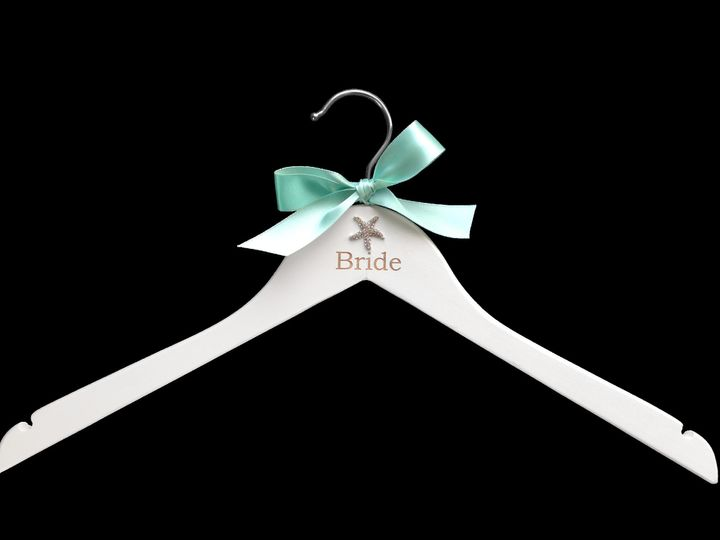beach bride wedding hanger