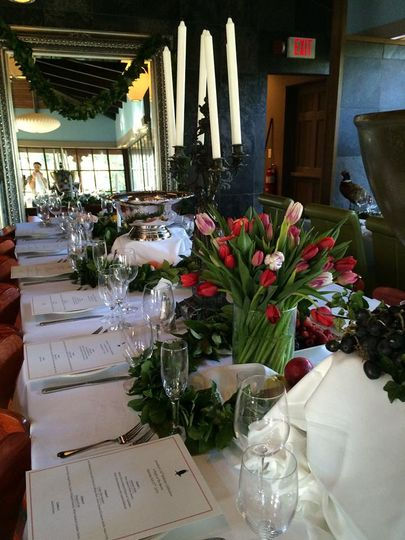 Banquet-style reception