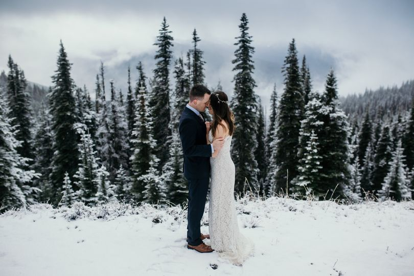 Wedding vows in the mountains