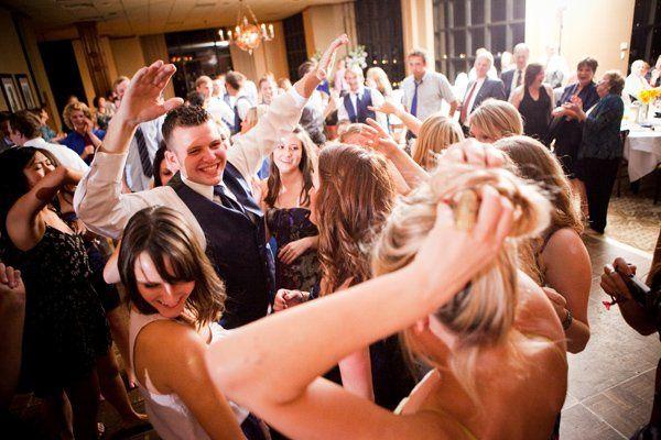 Joyous wedding party
