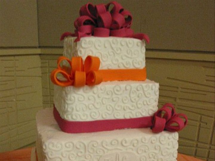 Tmx 1238983108234 Orangeburgundy001 Blythewood, SC wedding cake