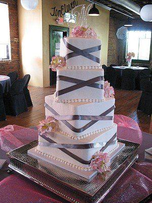 Tmx 1340680032741 PinkGray001 Blythewood, SC wedding cake