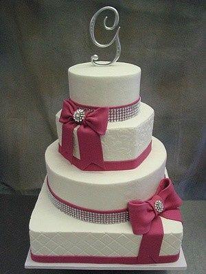 Tmx 1407813259298 Fuchsia And Bling 4 Blythewood, SC wedding cake