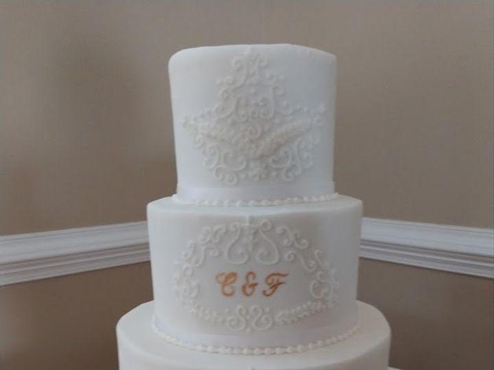 Tmx Gold Monogram And Accents Wedding Cake Vintagebakery Com 803 386 8806 51 45999 159430832659011 Blythewood, SC wedding cake