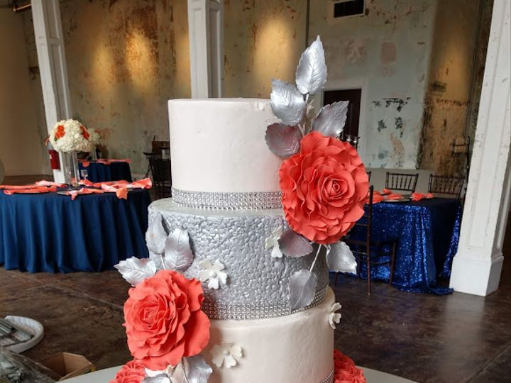 Tmx Guava And Silver Wedding Cake Vintagebakery Com 803 386 8806 51 45999 159430852171113 Blythewood, SC wedding cake