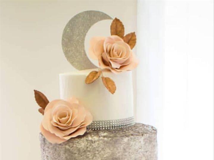 Tmx Silver Sequined And Blush Ruffled Wedding Cake Vintagebakery Com 803 386 8806 51 45999 159430776978038 Blythewood, SC wedding cake
