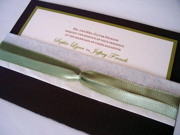 Tmx 1233945535859 Brownpocket3 Oakville wedding invitation
