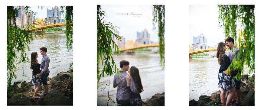 Rachel and Adam's engagement