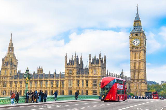 london big ben double decker bus