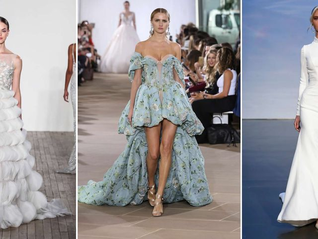 The Fall 2019 Wedding Dress Trends That Took Over Bridal Fashion Week