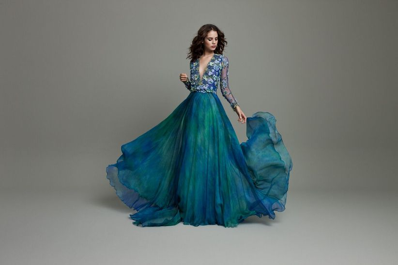 Wedding Dresses With Color.16 Colored Wedding Dresses For The Bride Who Doesn T Want To