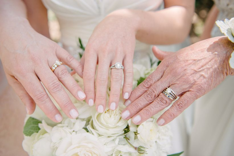 three generations of wedding rings