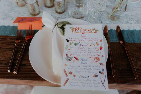 How to Create Wedding Menu Cards
