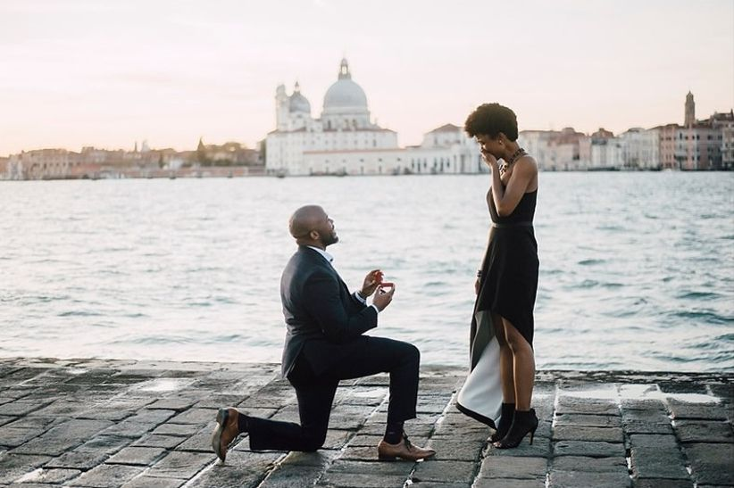 romantic waterfront proposal