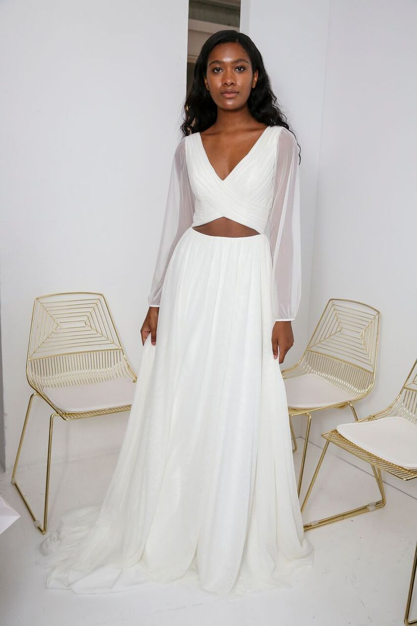b5cf4c7c1b ... crop-top wedding dress is a must-try for trendsetting brides. Dan Lecca