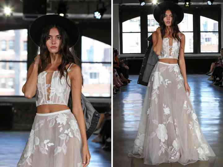 16 Crop Top Wedding Dresses For Trendy Brides To Be