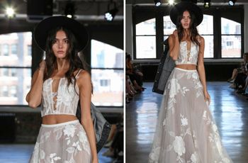 16 Crop-Top Wedding Dresses for Trendy Brides-To-Be