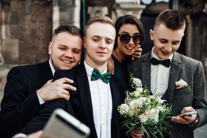groomsman selfie