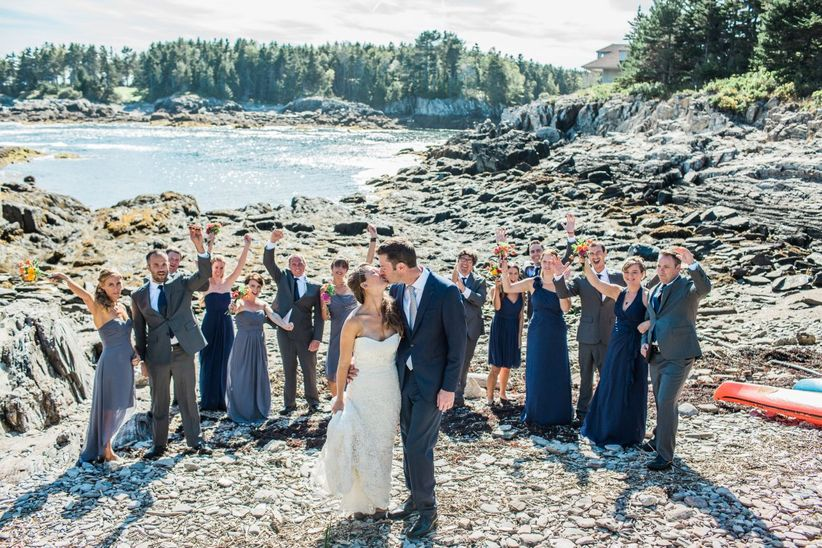 wedding party maine