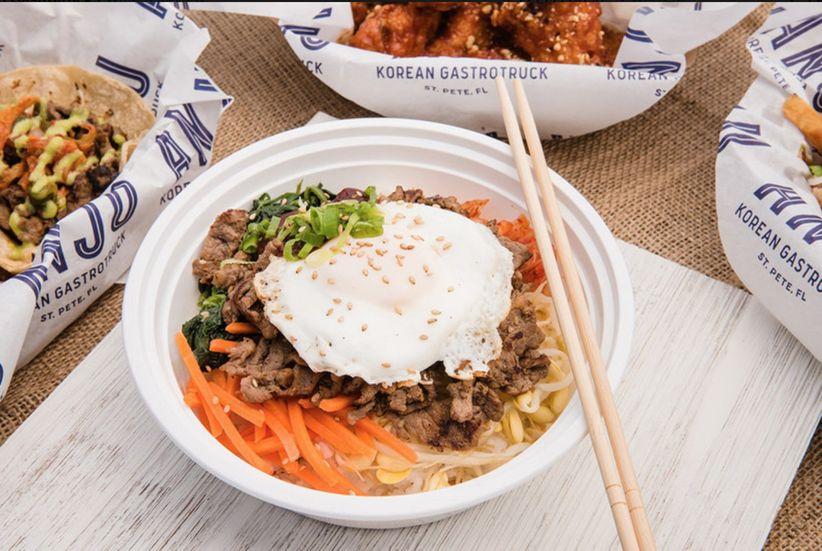 korean food truck food