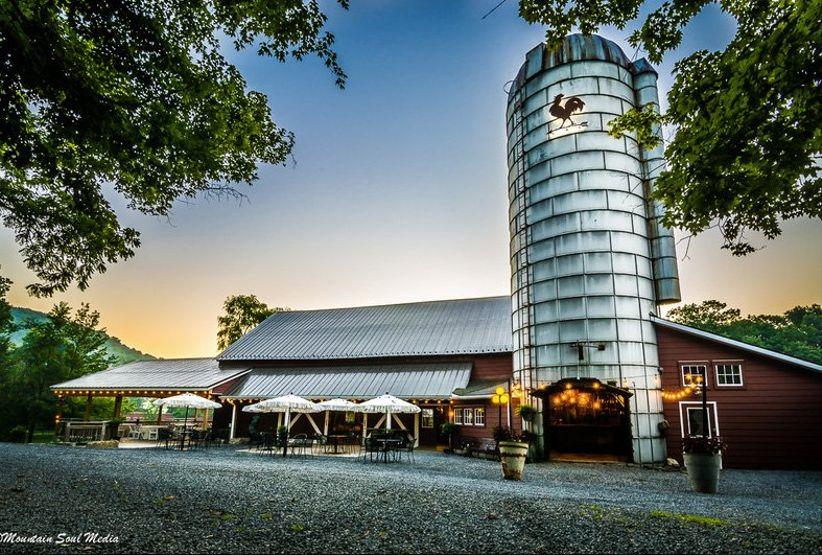 barn wedding venue with silo