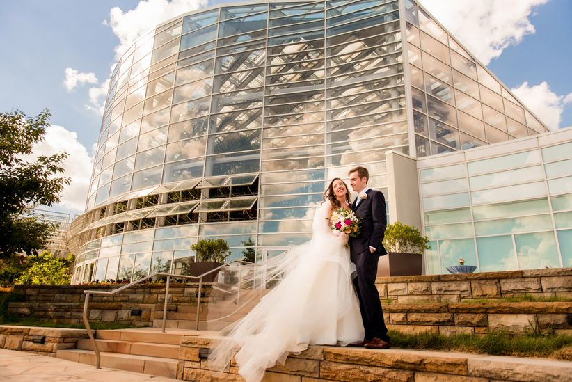 11 unique wedding venues in pittsburgh weddingwire wedding couple at phipps conservatory junglespirit Gallery
