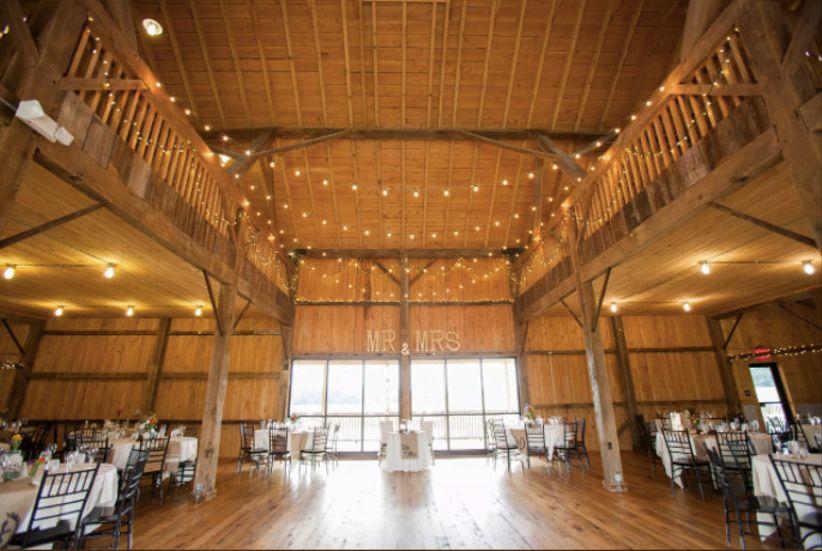 wooden barn wedding