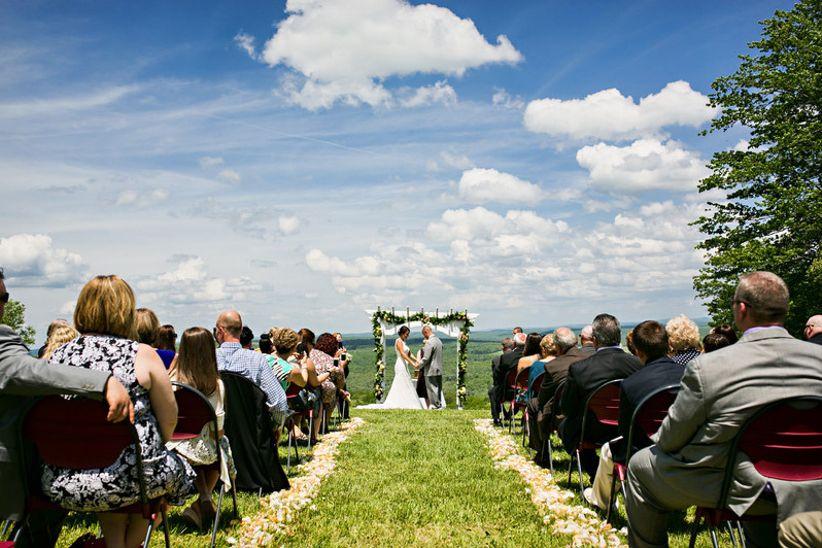 scenic outdoor wedding ceremony