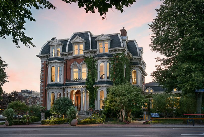 exterior shot of historic mansion in ny