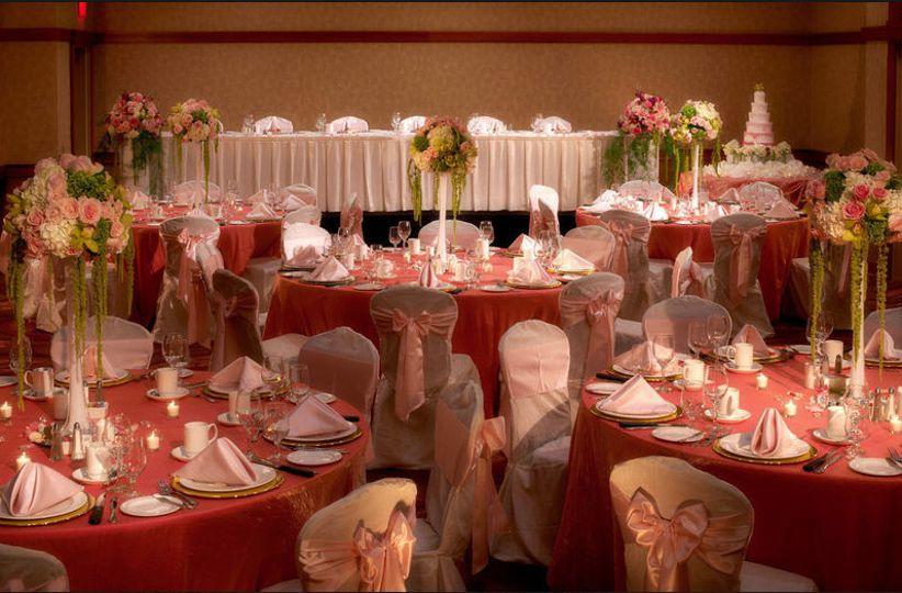 pink wedding ballroom