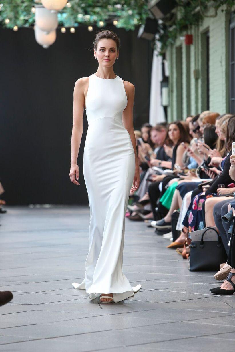 9 Minimalist Wedding Dresses For 90s Loving Brides