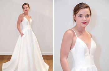 9 Minimalist Wedding Dresses for '90s-Loving Brides