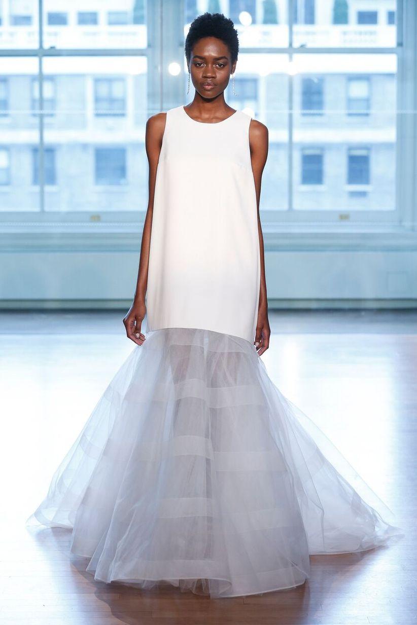 8 modern wedding dresses full of geometric details and patterns dan lecca junglespirit Choice Image