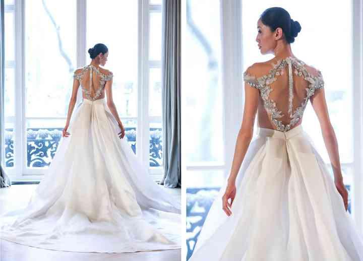 8 Modern Wedding Dresses Full Of Geometric Details And Patterns Weddingwire