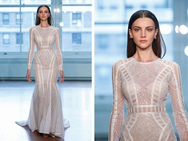 8 Modern Wedding Dresses Full of Geometric Details and Patterns