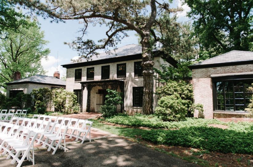 outdoor home wedding venue