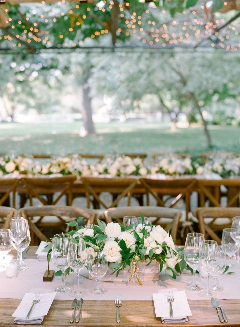 garden wedding reception centerpiece